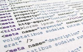 Image of meta tag code