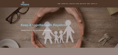 Keystone Financial Solutions Website Frontpage