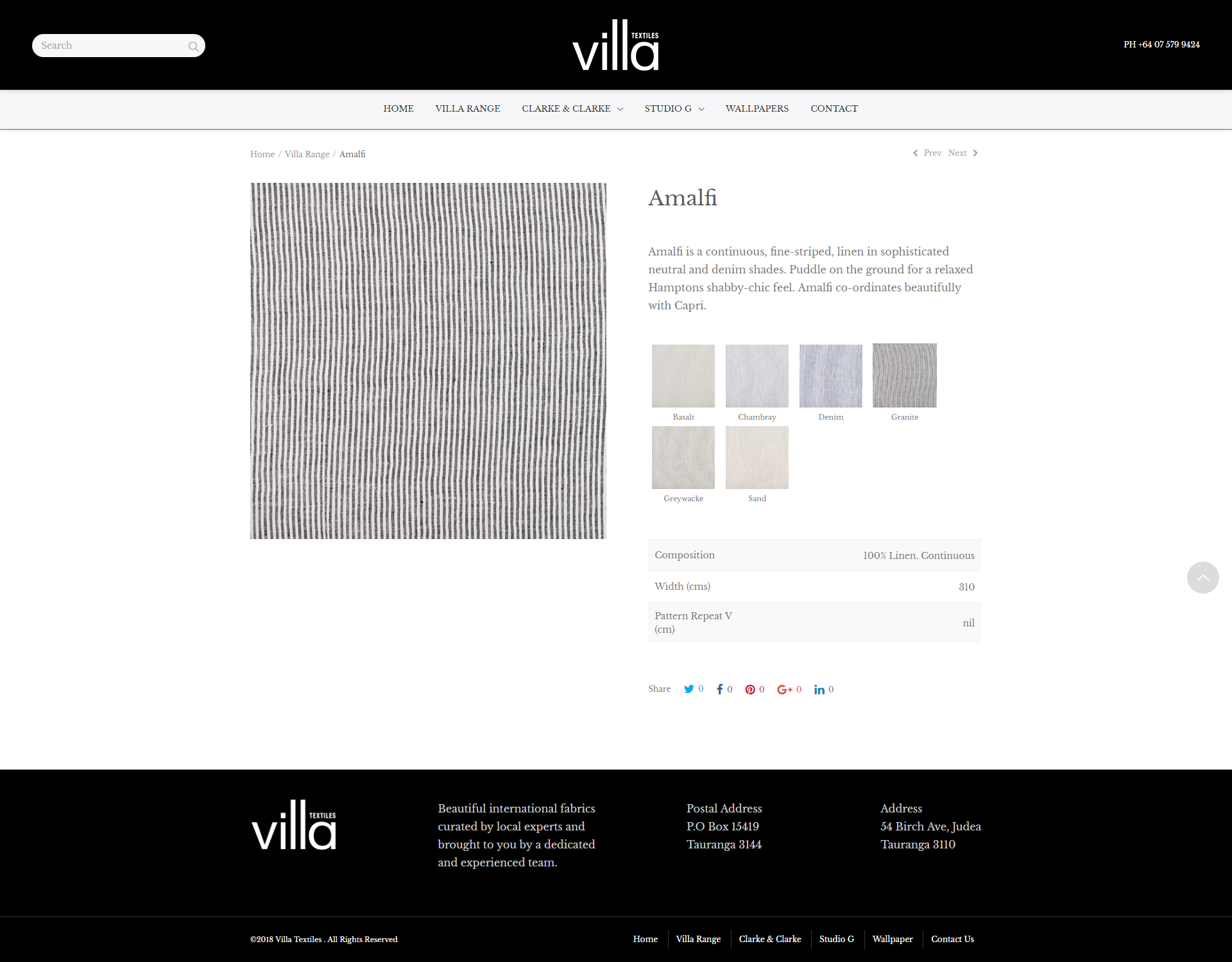 Villa Textiles product description